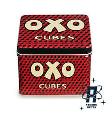 OXO CUBE CUBES SMALL STORAGE TIN TINS RETRO VINTAGE NEW & OFFICIAL WITH TAGS