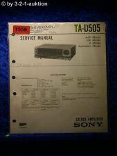 Sony Service Manual TA D505 Amplifier  (#1556)