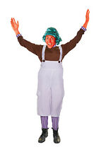 CHOCOLATE FACTORY WORKER UMPA LUMPA CANDY CREATOR ADULT FANCY DRESS COSTUME