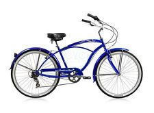 "Micargi 7 spd 24"" Tahiti Men beach cruiser bicycle bike Blue"
