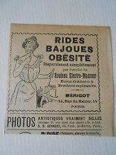 Rides Bajoues Obésité Mérigot Electro Masseur Pub image print 1900