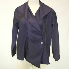 NEW NWT Chalet Fall Winter Plus Size Purple Ombre Pleated Button Wrap Blouse 2X