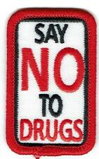Girl Boy Cub SAY NO TO DRUGS Red Ribbon Week Patches Crests Badges SCOUT GUIDE