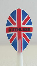 Ruthless Union Jack Pear Dart Flight