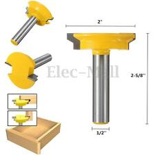 1/2'' Shank Straight Rail & Stile Router Bit Woodworking Chisel Cutter Tool Kit