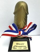 Novelty Penis Trophy Willy Dick World Champion Statue Bridal Hen Party Gifts