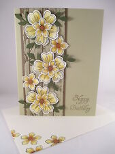"Stampin Up ""Flower Shop"" Handmade Happy Birthday Card"