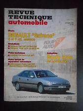 Revue technique automobile n°555 10/1993 Renault Safrane 4 et 6 cylindres ess.