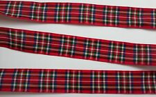 """Double Sided Red Plaid inspired 1"""" Ribbon - By The Yard - USA Seller"""