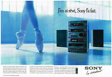 Publicité Advertising 1990 (2 pages) La Chaine Hi-Fi Sony