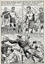 FINALE DE COUPE FOOTBALL (ROBERT HUGUES) PLANCHE ORIGINALE PILAR SANTOS PAGE 24