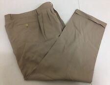 $495 ZANELLA Men's Italian Made Light Beige Wool Business Dress Pants Size 36x30