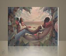 "African American Art - John Holyfield - ""In Our Solitude"" - Canvas Giclee"