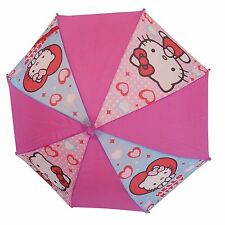 Kids umbrella - Hello Kitty Hearts PINK - Birthday or Christmas gift