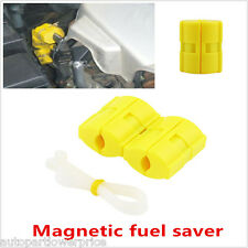 2pcs Car Magnetic Fuel Saver Reduce Emission Power Saver Universal Petrol Diesel
