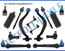 NEW 14pc Front Lower Control Arm w/ Ball Joint + Inner & Outer Tie Rod Kit Dodge