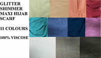 LADIES Plain Maxi Shimmer Pattern Big Large Scarf Shawl Hijab Sarong glitter