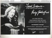 RORY GALLAGHER Fresh Evidence 1990  UK magazine ADVERT / Poster 8x6 inches