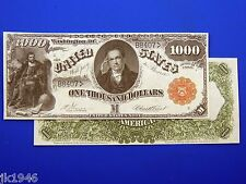 Reproduction $1000 1880 LT US Paper Money Currency Copy