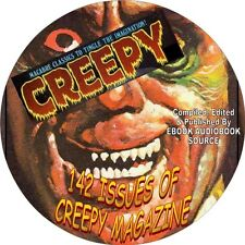 CREEPY MAGAZINE - 142 ISSUES - PDF FILES - HORROR, MONSTER, HAUNTED, MACABRE-DVD