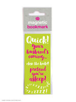 Brainbox Candy Pretend Your Asleep magnetic bookmark cheap gift funny present