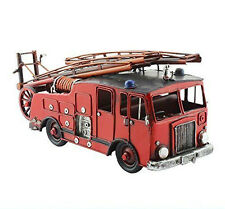 New : TIN TRANSPORT Range  : Vintage London Fire Engine Tin Model : Ornament