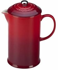Le Creuset Of America Stoneware Petite French Press, 12 Oz, Cherry   16A17