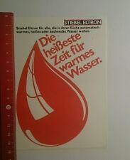 Aufkleber/Sticker: Stiebel Eltron die heißeste Zeit für warmes (181016188)