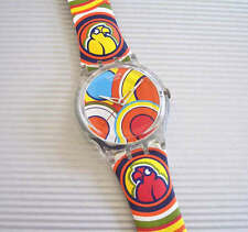 BIRD TWISTER! Wild & Bold PARROT Swatch with Leather Band! NIB-RARE!