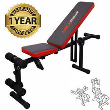 Foldable Flat Incline Fitness Exercise Ab Bench Home Gym Workout Dumbbell Weight