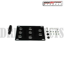 audi a4 s4 b7 1.8t 2.0t 4.2 v8 turbo jdm style license plate mount kit /tow hook