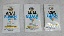 3 Body Action Anal Bleach Pillow Packs .10oz Unisex Sexy Intimate Skin Lighten