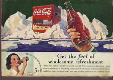 Vintage print ad 1936 Coca-Cola Get the Feel of Wholesome Refreshment