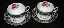 SENORITA 4 Pc SET Lot TEA CUPs SAUCERs Royal Albert England RARE Vintage Pattern