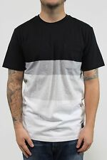New DC SHOES Mens Posen Pocket SS T Shirt Sz Medium Black/Heather Grey/White BW1