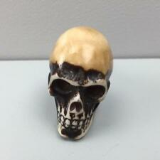 New BROWN WITH IVORY DETAIL RESIN SKULL DRAWER DOOR PULL KNOB shabby chic quirky