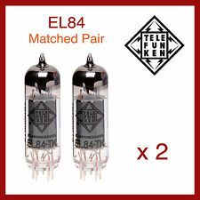 Telefunken Black Diamond EL84 Power Vacuum Tube - Matched Pair - 2 Pieces