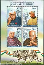 NIGER 2014 50th MEMORIAL ANNIVERSARY OF JAWAHARLAL NEHRU WITH GANDHI SHEET  NH