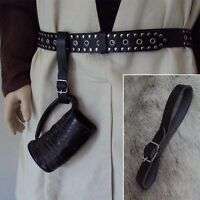 Leather Tankard Holder With Buckle. Perfect For Re-enactment, Stage, Costume