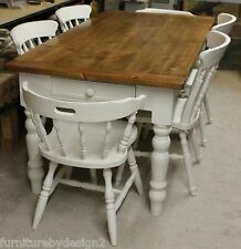 Vintage Pine Farmhouse Table and Chairs Made to Order (Shabby Chic or Antique)