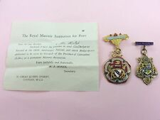 2 VINTAGE MASONIC MEDALS JEWELS WITH PAPERWORK 1946