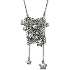 NIB SWAROVSKI FIZZ LARGE RHODIUM STAR NECKLACE RETIRED