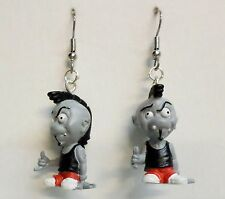 "FREAKY GEEKS ""SPIKE ""  Hot Rod Funny Car FigurinesToys 1"" Dangle Earrings RETRO"
