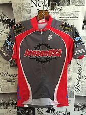 Champ Sys Women Large L Cycle Bike Cycling Jersey Shimano Jenson USA Red Grey