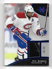 2015-16 Ultimate Collection Platinum Blue Relic P. K. Subban #10 of 15
