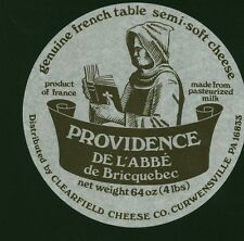 """Etiquette de Fromage """" Providence de l'Abbé de Briquebec """"  ( No 119 )"""