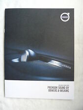 Volvo - Premium Sound by Bowers & Wilkins - Prospekt Brochure 2015