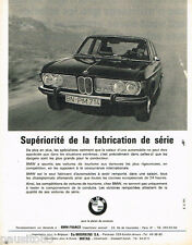 PUBLICITE ADVERTISING 085  1971  BMW   la 2800