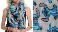 "Disney & Loungefly Lilo and Stitch "" Stitch Alien "" extra large long shawl Scarf"