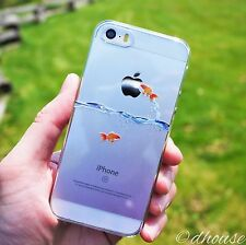 MADE IN JAPAN Hard Shell Clear Case Goldfish design for iPhone SE / 5s / 5